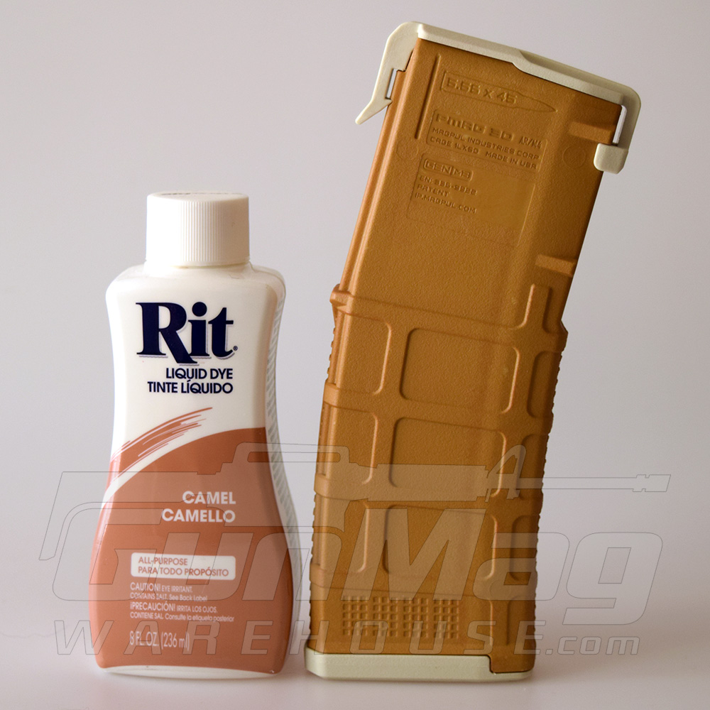 "the ""Camel"" color from Rit Dye as it takes on a PMAG"