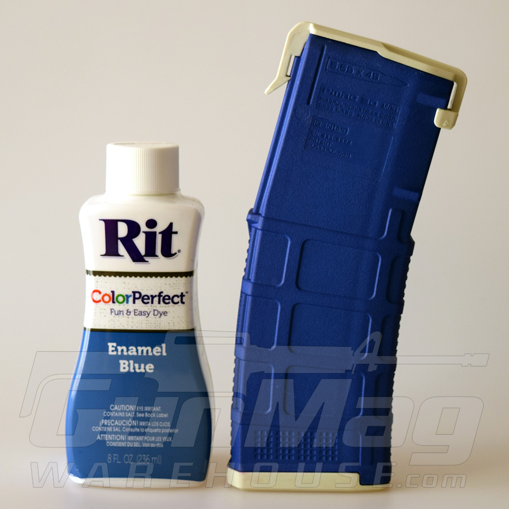 A new Magpul color: Enamel Blue (thanks to Rit Dye).