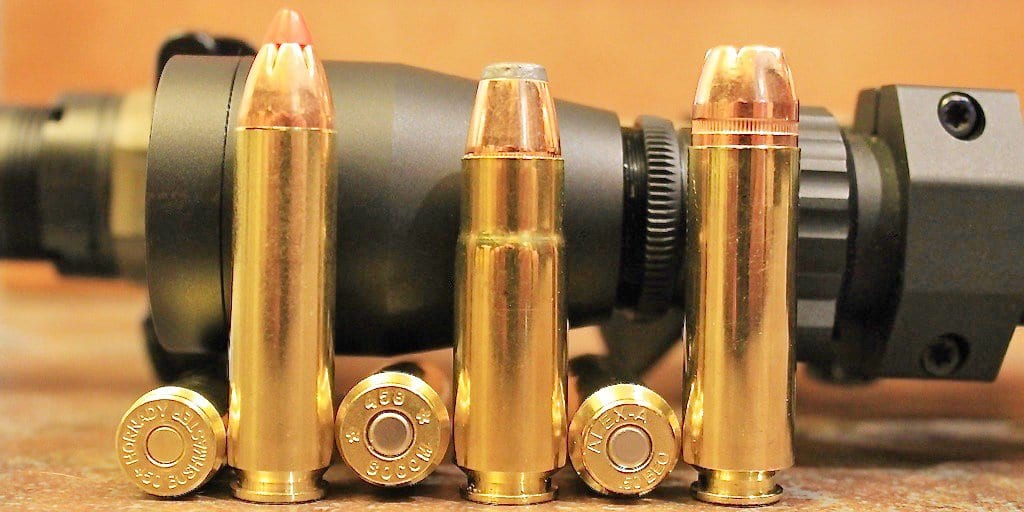 50 Beowulf, 450 Bushmaster, and 458 SOCOM compared (from an article by John McAdams on The Big Game Hunting Blog).