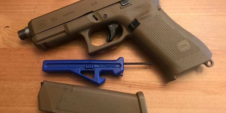 G5+ Glock Pocket Tool next to Glock 19X