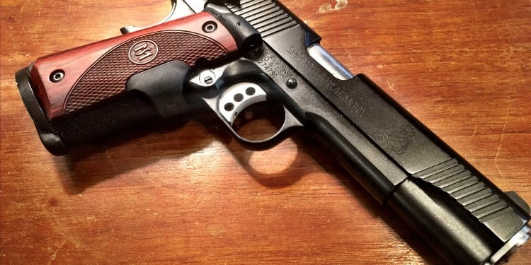The Springfield Armory 1911 TRP is a production version of the classic FBI contract pistol.