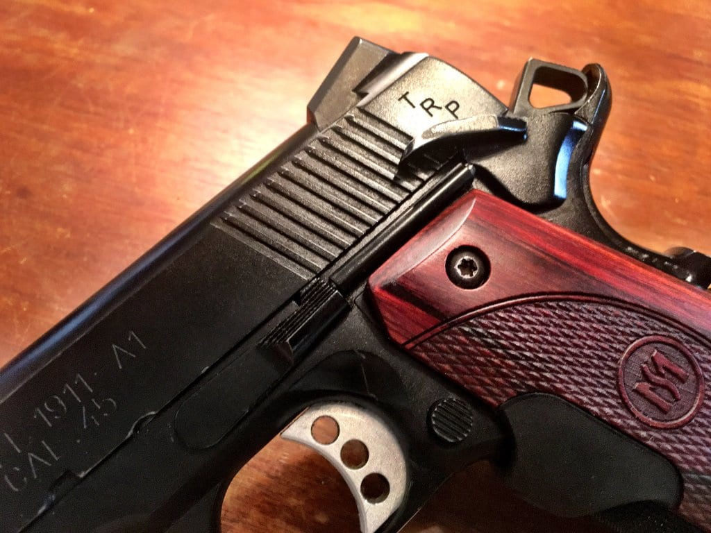 "The 1911 TRP is full of ""small detail"" upgrades like ambidextrous safety levers, quality checkering, enlarged ejection port and more."