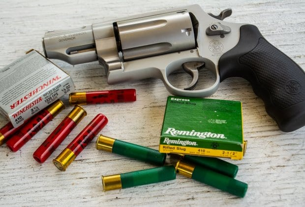 Revolvers like this Smith & Wesson Governor are designed to shoot both shotshells and cartridges. Can they do both well?