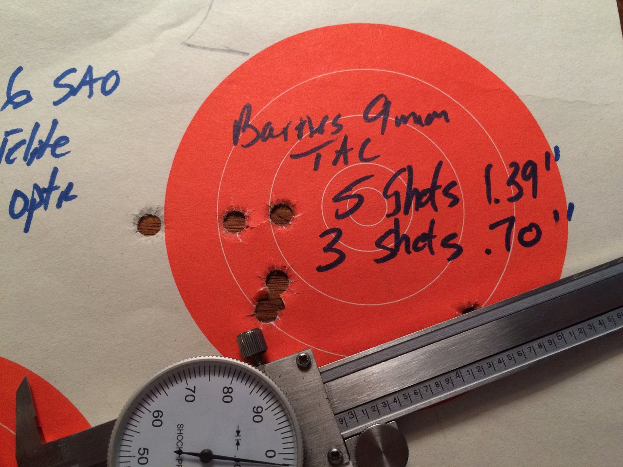 The Barnes TAC-XPD has nothing to be ashamed of in the accuracy department.