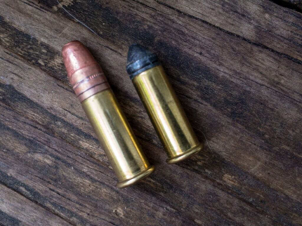 For some applications, even the .22 rimfire is too much bang. The Super Colibri (right) fires using only primer compound - no powder. M&P.