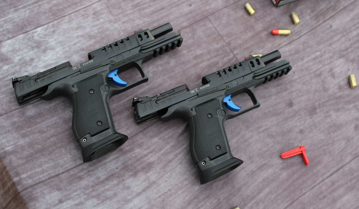 Two of the PPQ SF competition guns, side-by-side.