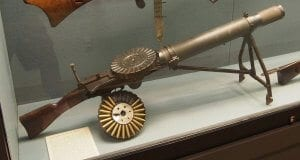 Lewis Gun with a Pan magazine