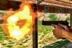 The Deagle Desert Eagle round throws the flame.