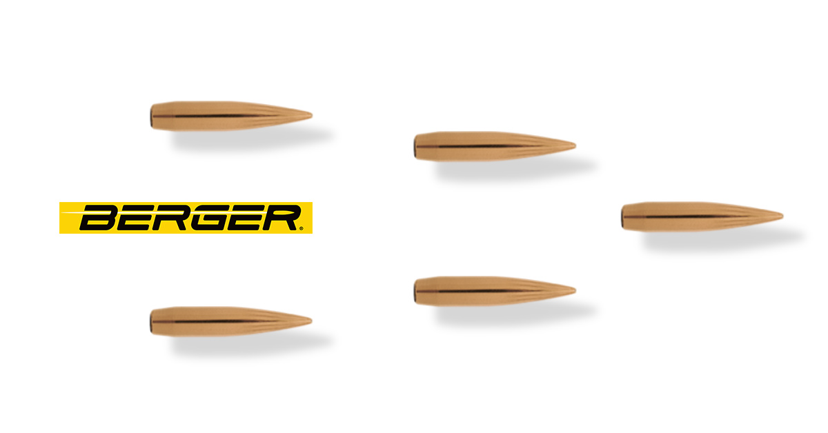 Ammunition Depot- Berger 6mm 109 Grain Long Range Hybrid Target Bullets.