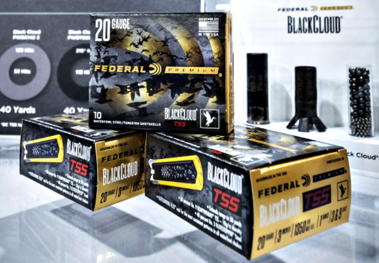 Ammunition Depot: Federal's new Black Cloud TSS ammunition is a blend of 60 percent HEAVYWEIGHT TSS pellets (instead of the traditional steel) and 40 percent FLITESTOPPER steel.