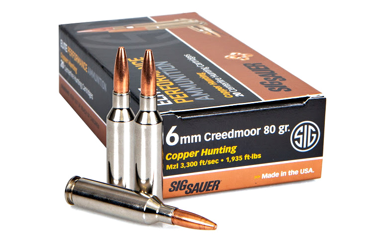 This new ammunition from Sig Sauer features an 80gr all-copper bullet that delivers deep penetration and consistent 1.8x diameter expansion.