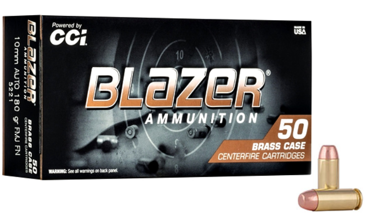 New Ammunition - CCI Blazer Brass 180-grain 10mm Auto.