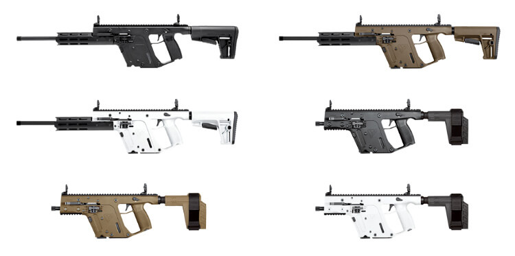 Gun News - KRISS Vector .22LR- available in carbine and stabilizing brace configurations with three color options.