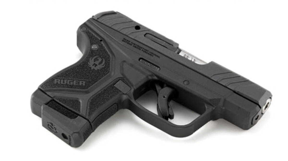 The Ruger Lite Rack LCP II in .22 LR is a low-recoil pistol with a slide that is easy to manipulate.