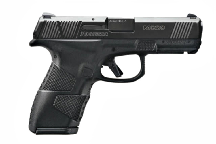 Gun News - Something to see at SHOT Show 2020 - According to Mossber, there will be five initial offerings of the MC2c Compact 9mm Pistol. All of them will include two frame variants (standard and cross-bolt safety); choice of slide finishes (black DLC-finished or bead-blasted stainless steel); and optional TRUGLO Tritium Pro Night sights. All MC2c models come with 13-round flush and 15-round extended coated-steel magazines.