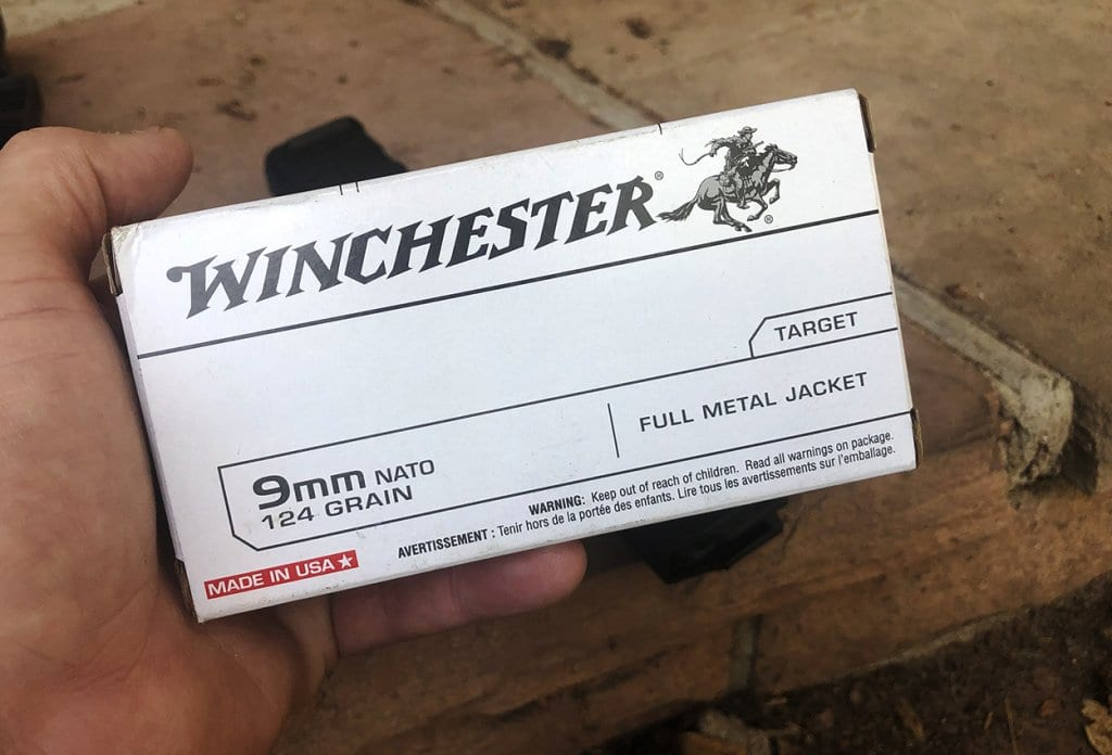 Winchester 9x19 NATO-spec ammunition proved reliable in the pistol.