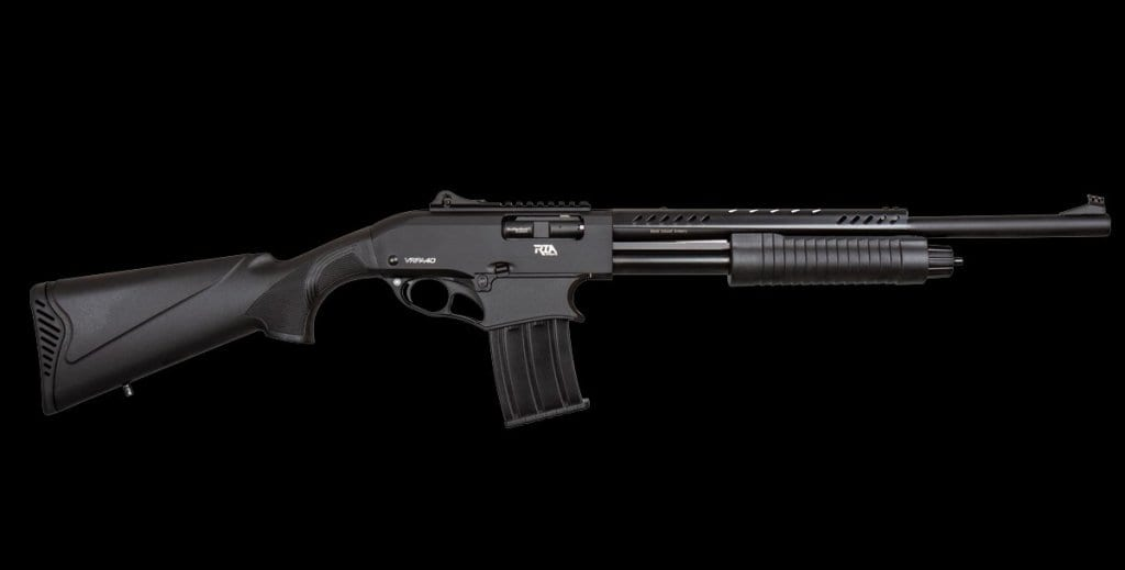 The VRPA40 is a mag-fed shotgun that takes VR magazines.