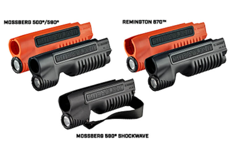 Gun News: Streamlight announced the lumen output in the TL-Racker for the Mossberg 500/590 and Remington Model 870 pump-action shotguns is now increased to 1,000 lumens. Also, The two additional models, including one for the Mossberg 590 Shockwave and a Less Lethal Orange model for Remington Model 870™ and 870 TAC-14 pump-action shotguns are now available.