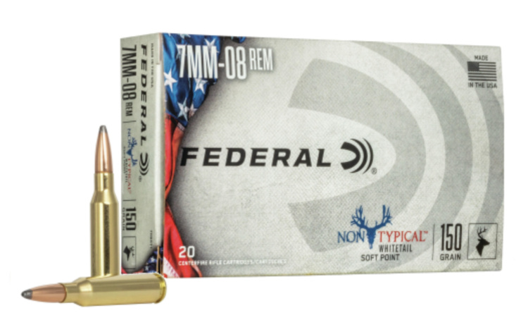 The 7mm-08 Rem. cartridge has been optimized for whitetails as a new option in the Federal's Non-Typical line.