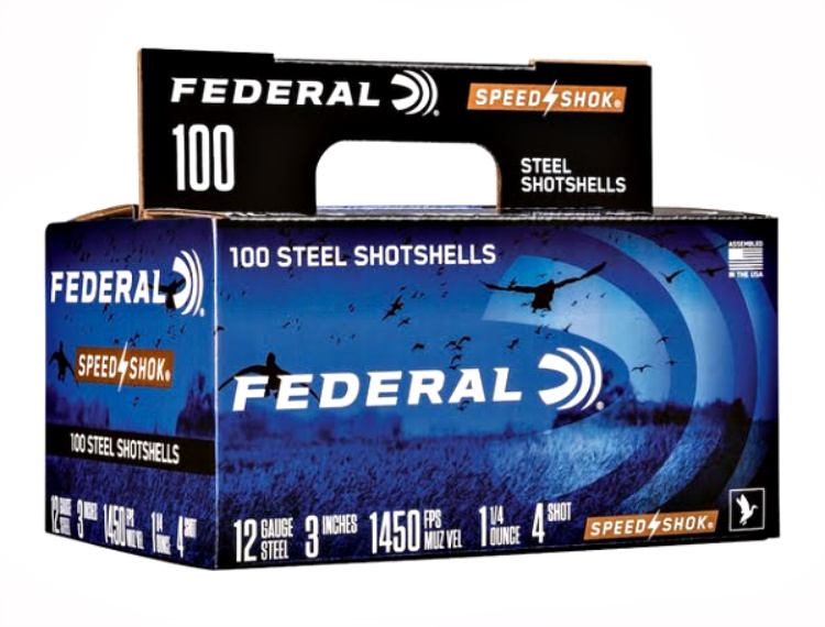 New Ammunition - Federal Speed Shok 100-count case packs with handle with four 25-round boxes in each.