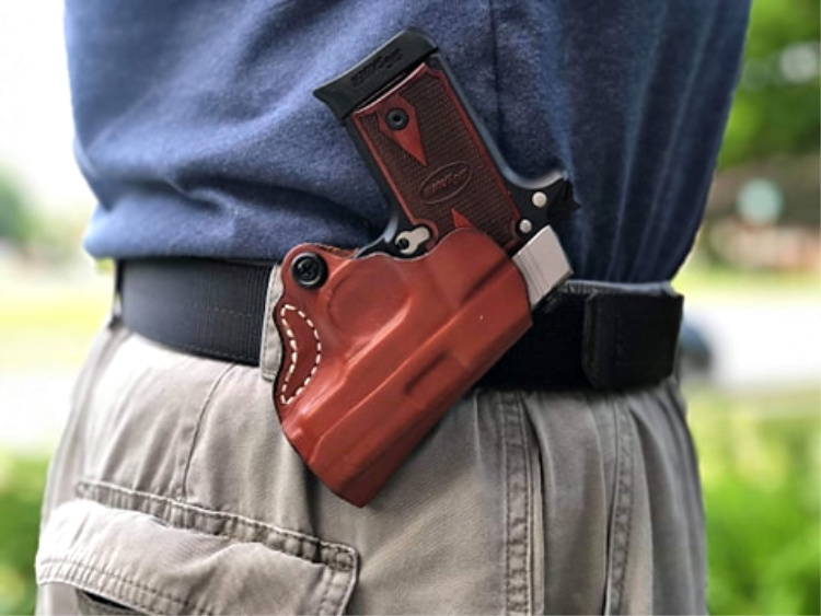 The DeSantis Mini Scabbard makes carrying the Sig P238 effortless.