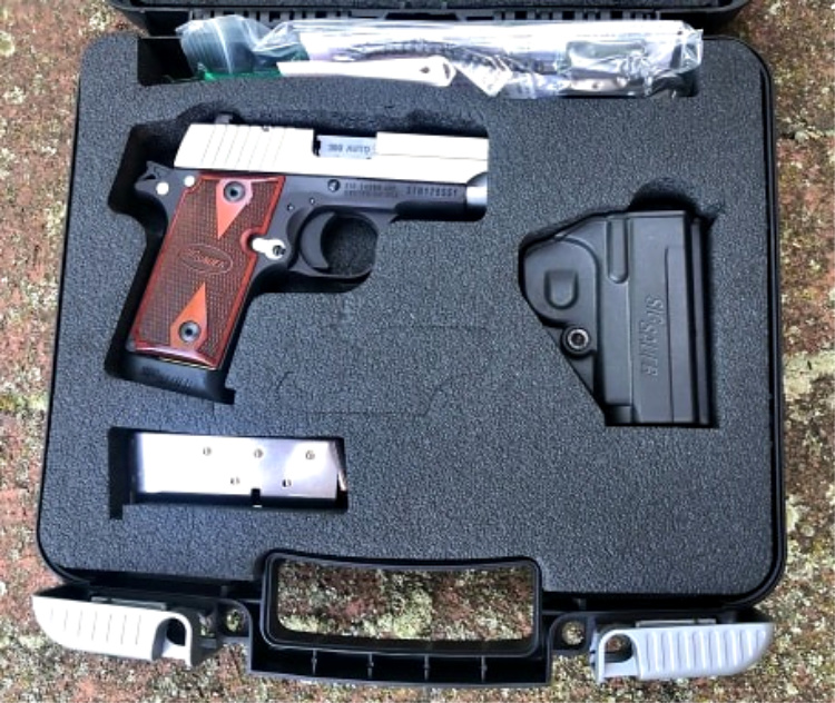 The Sig P238 came nicely packaged in a plastic carry case, complete with holster.
