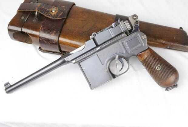 C96 Broomhandle Mauser: image courtesy of Legacy Collectibles.