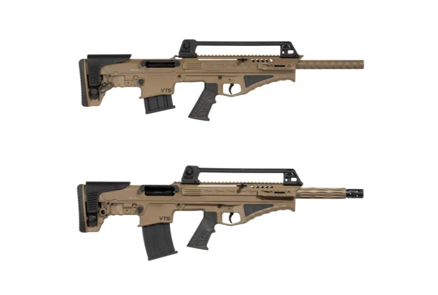 Gun News - Hatsan Escort BTS Bullpup shotgun, .410 top and 12-gauge bottom.
