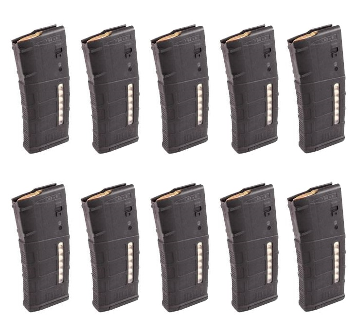 10 Pack of Magpul PMAG Gen M3 M118 Window LR/SR 308/7.62X51 AR-10 25-Round Magazine