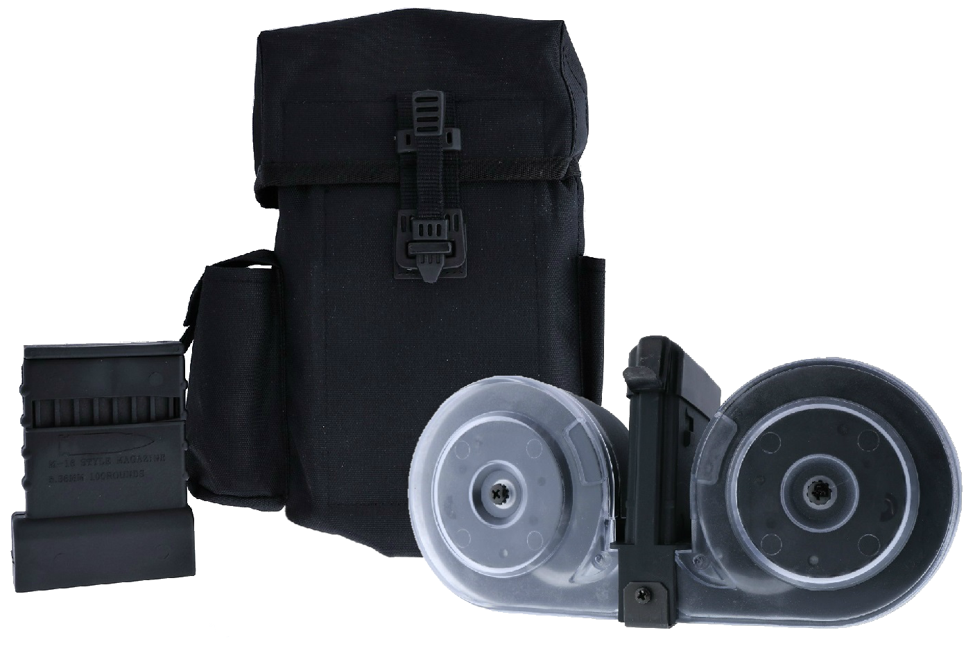 KCI AR-15 .223/5.56 100-Round Drum Magazine with Personal Loader and Pouch