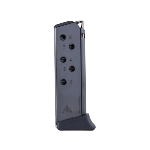 Mec-Gar Walther PPK .380 ACP 6-Round Blue Steel Magazine with Finger Rest