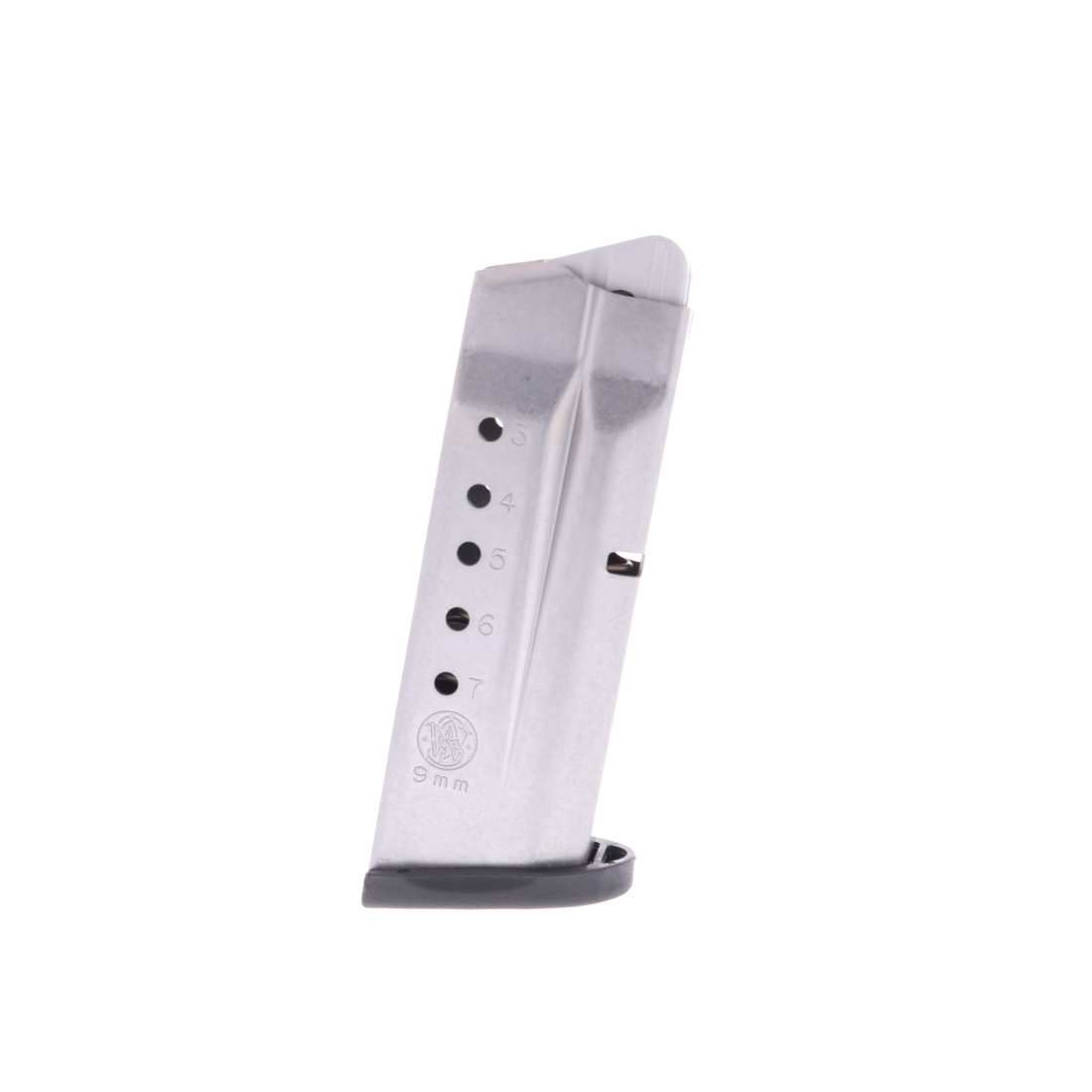 Smith & Wesson S&W M&P Shield 9mm Luger 7-Round Stainless Steel Factory Magazine