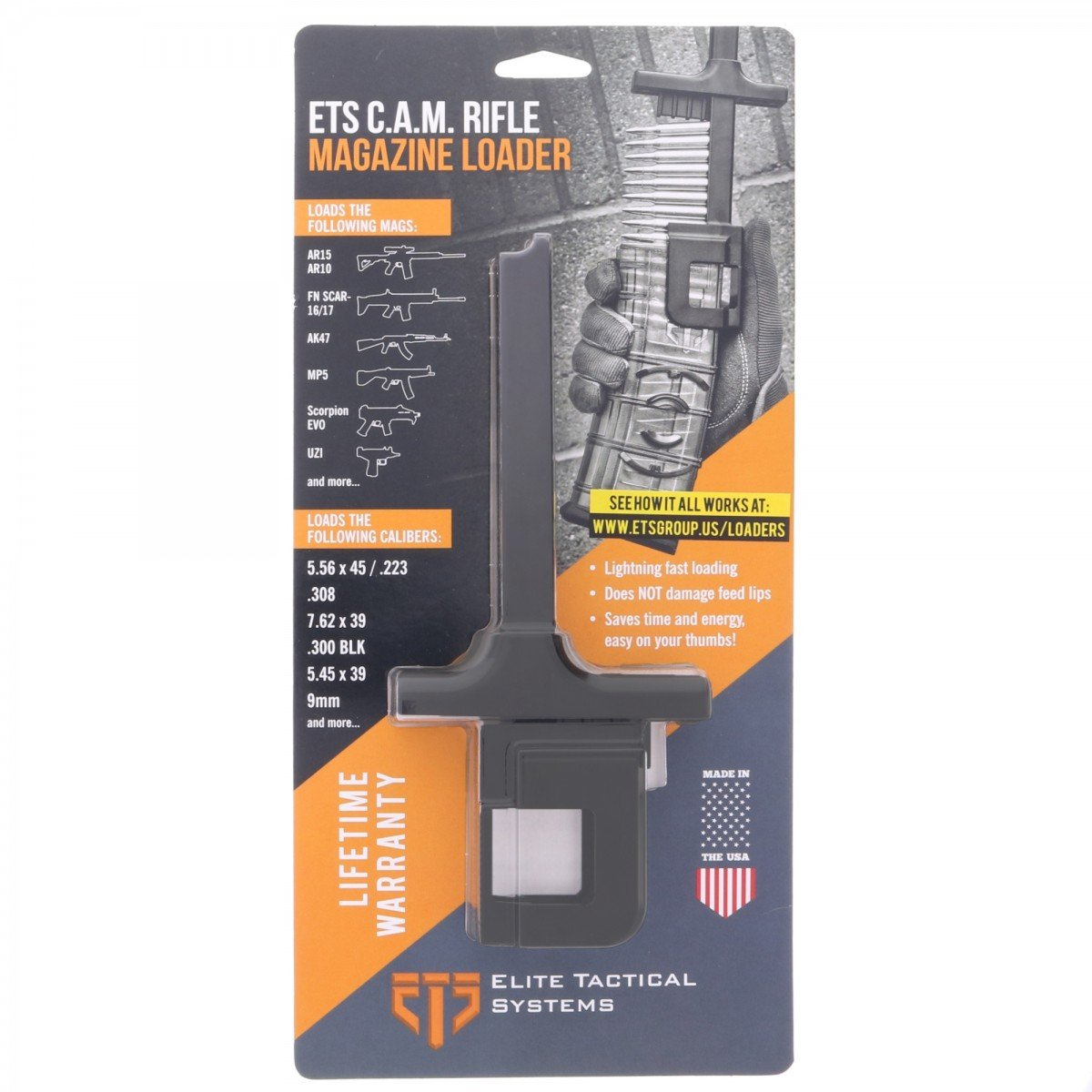 Magazine Loader .380 ACP ETSCAM-380 Elite Tactical Systems C.A.M ETS