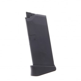 Glock 43 9mm Luger 6-Round Polymer Black W/ Finger Rest Extension Magazine