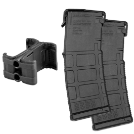 Two Magpul PMAG Gen M3 AR-15 30-Round Magazines and Maglink Promo