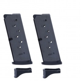 2 Pack Ruger EC9/LC9, LC9S 9mm 7-Round Magazine with Extended Floorplate