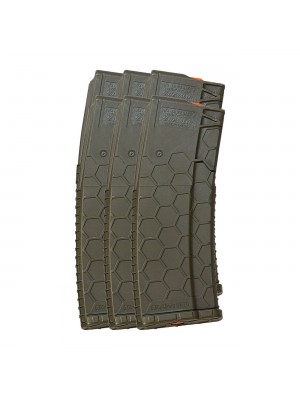 6 Pack of Hexmag Series 2 AR-15 .223/5.56 15/30-Round Polymer Magazine