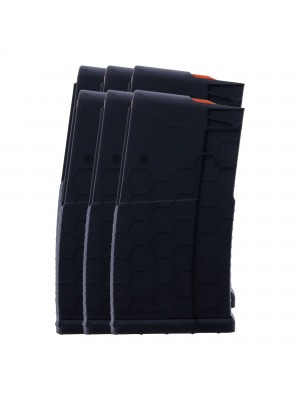 6 PACK of Hexmag Series 2 AR-10, SR25, .308/7.62X51 20-Round Polymer Magazine