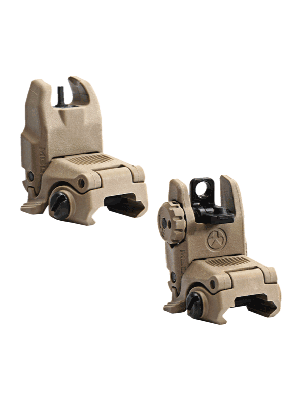 Magpul MBUS Back Up Front and Rear Sight Set Colors Meshed