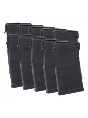10 Pack of Magpul PMAG GEN M3 LR/SR 308/7.62x51 AR-10 20-Round Magazine Colors Combined Right View