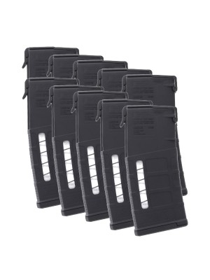 10 Pack of Magpul PMAG Gen M3 M118 Window LR/SR 308/7.62X51 AR-10 25-Round Magazine Colors Combined Right View