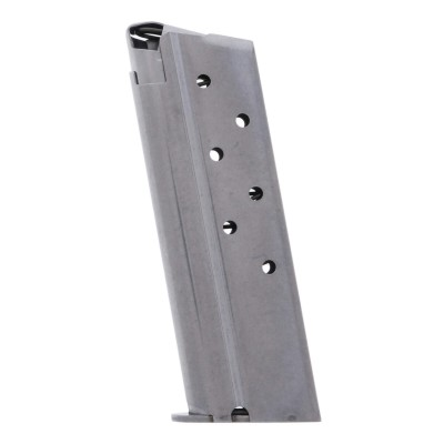 Metalform Officers 1911, 10mm, Stainless Steel (Welded Base & Round Follower) 7-Round Magazine Left