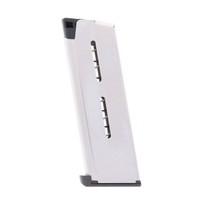 Wilson Combat 1911 Compact .45 ACP 7-Round Steel Magazine with Lo-Profile Steel Base Pad Left View