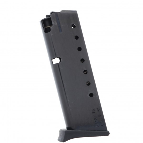 MILITARY SURPLUS ASTRA A75 W/Extension 8-Round-9mm / 7-Round .40 S&W Factory Magazine Left