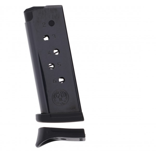 Ruger LCP .380 ACP 6-Round Blued Steel Magazine With Finger Rest Extension