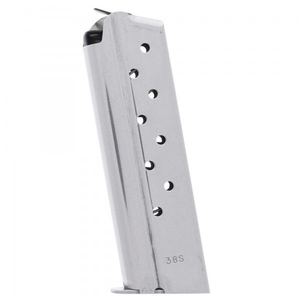 Check-Mate 1911 .38 Super 9-Round Stainless Steel Magazine Left