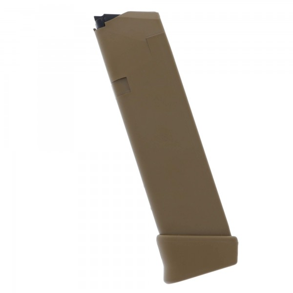 Glock G19X, G17 9mm 19-Round Magazine Coyote Left View