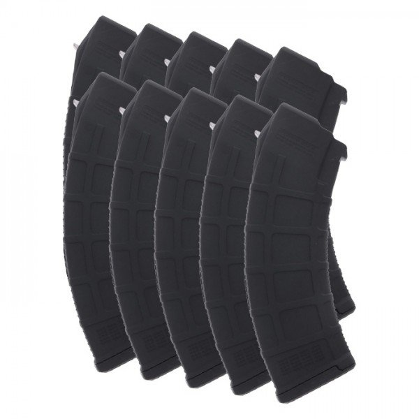 10 PACK Magpul PMAG AK/AKM Gen M3 7.62x39mm 30-Round Magazine Colors Combined Right View