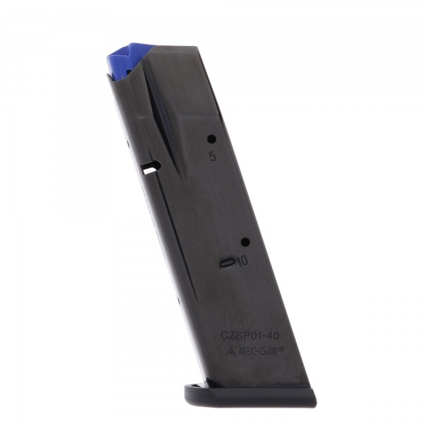 Mec-Gar CZ 75B 85B SP-01 Shadow .40 S&W 10-Round Magazine Left View