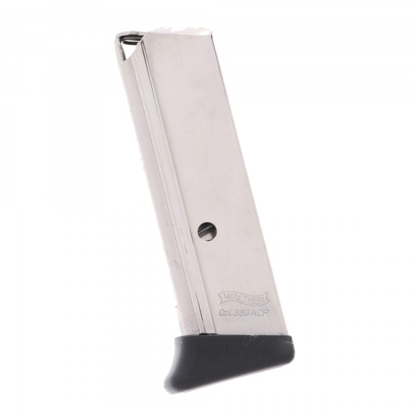 Walther PPK .380 ACP 6-Round Magazine With Finger Rest Left View
